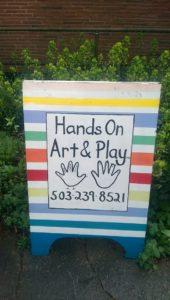 Hands On Art and Play preschool in Portland Oregon - sign