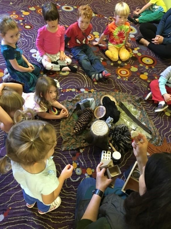 October 2016 talk about trees art Preschool Portland Oregon